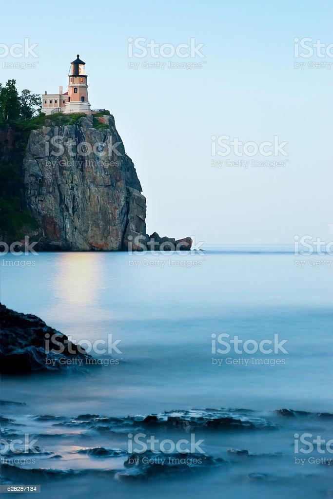Split Rock Lighthouse Sunset stock photo