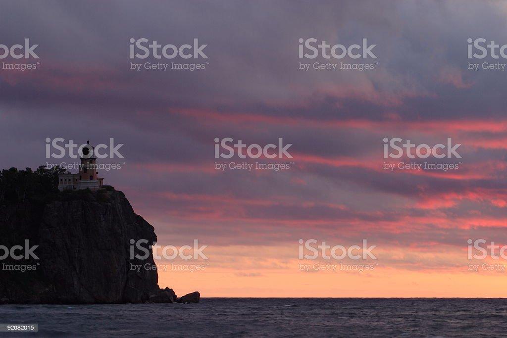 Split Rock Sunrise stock photo