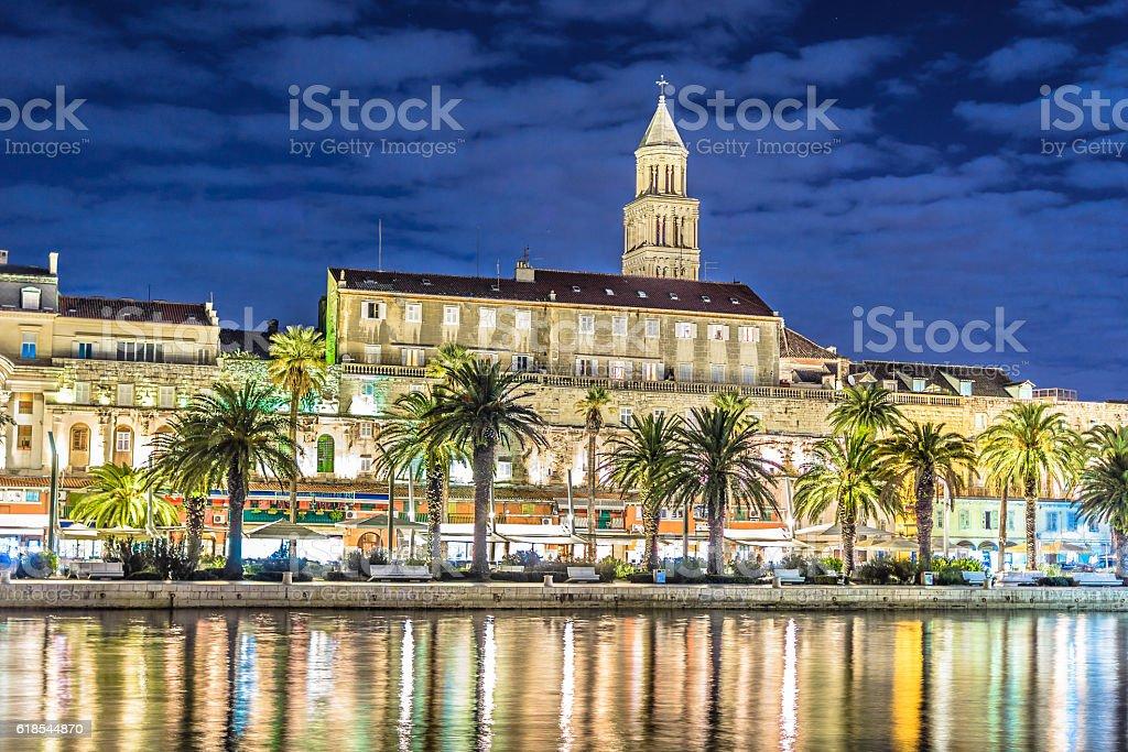 Split town Croatia. stock photo