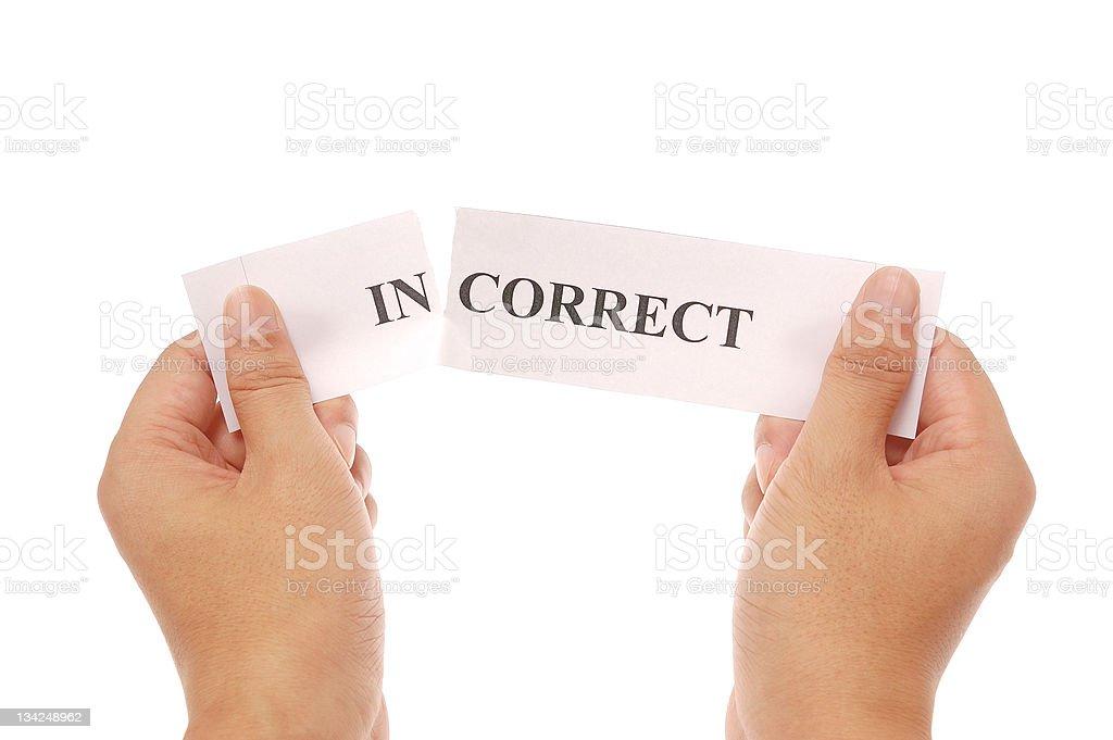 split word incorrect stock photo