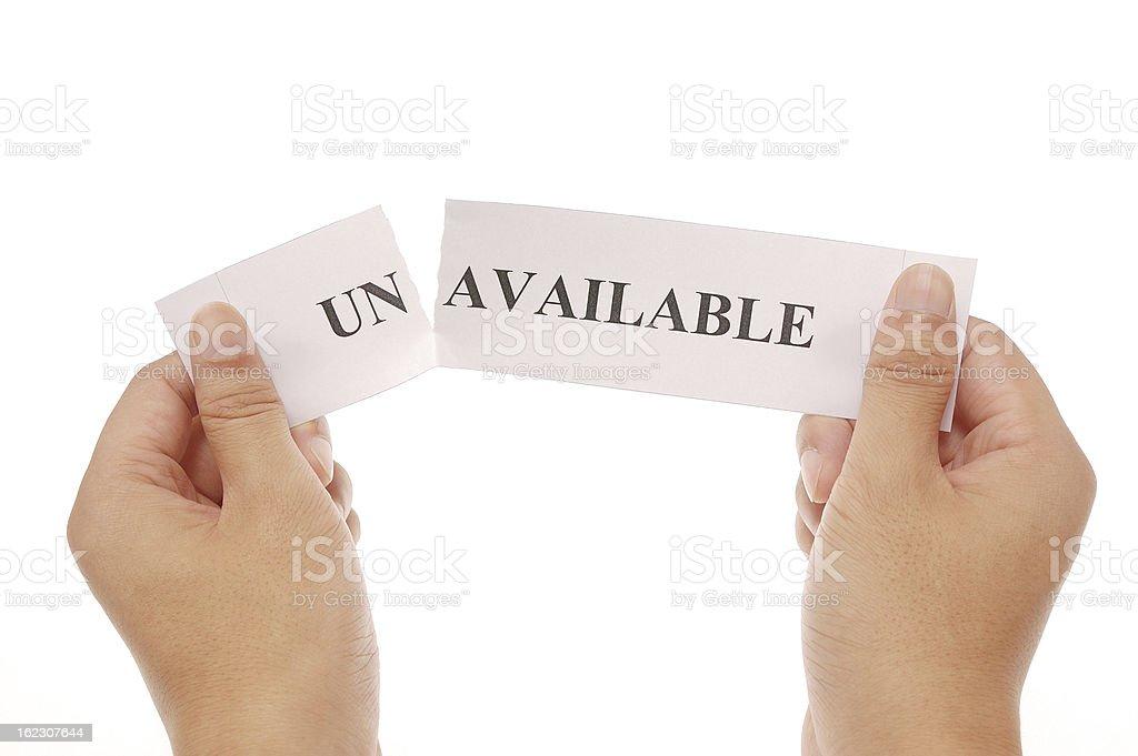 split word unavailable stock photo