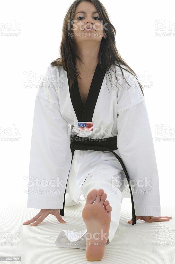 Splits (Stretching) royalty-free stock photo