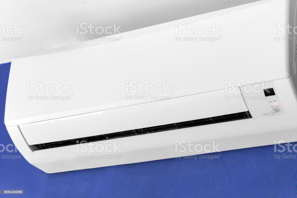 Split-system air conditioner stock photo