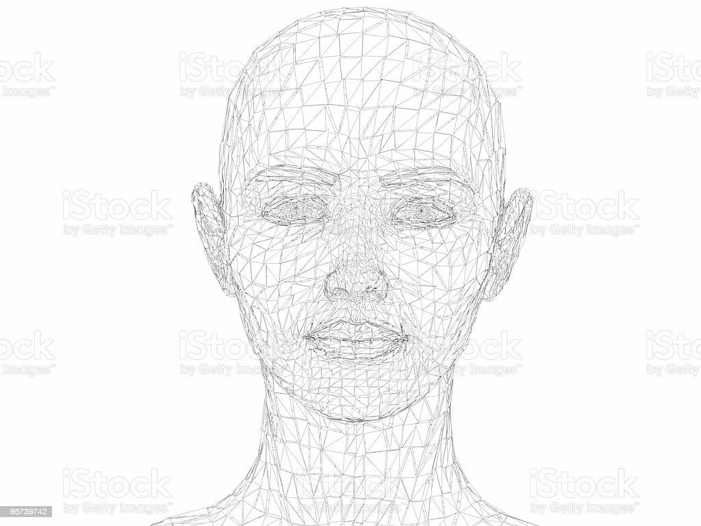Splitting Headache (cell render) stock photo