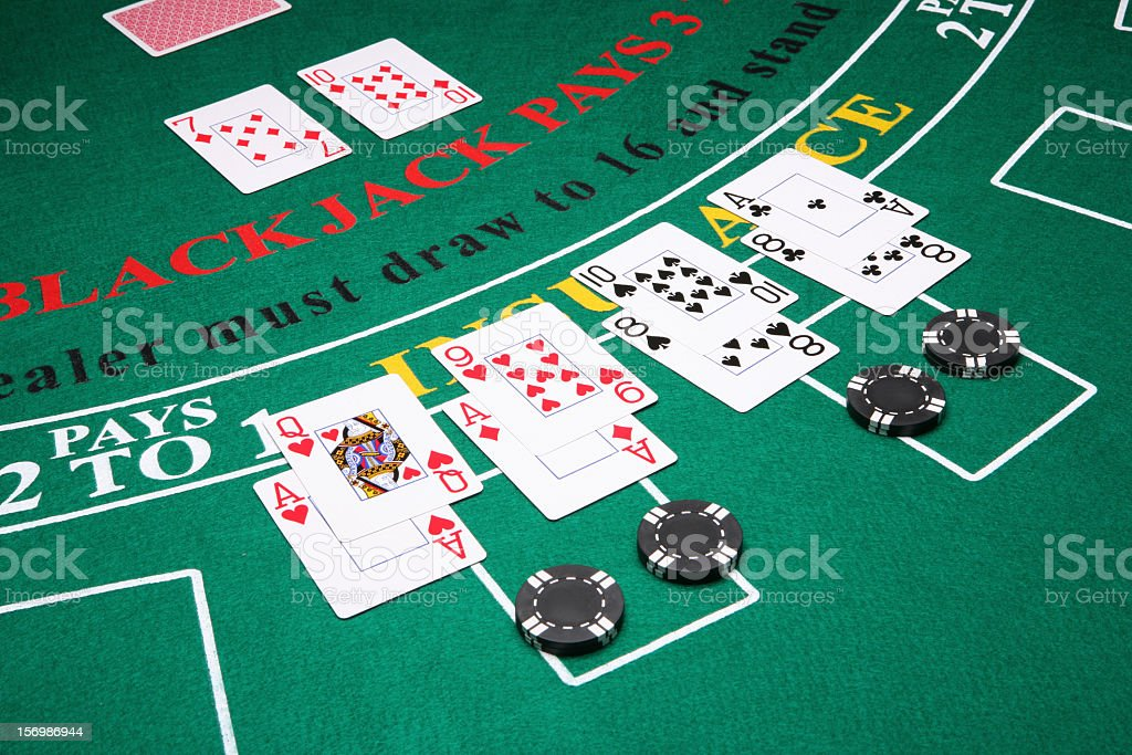 Splitting in Blackjack stock photo