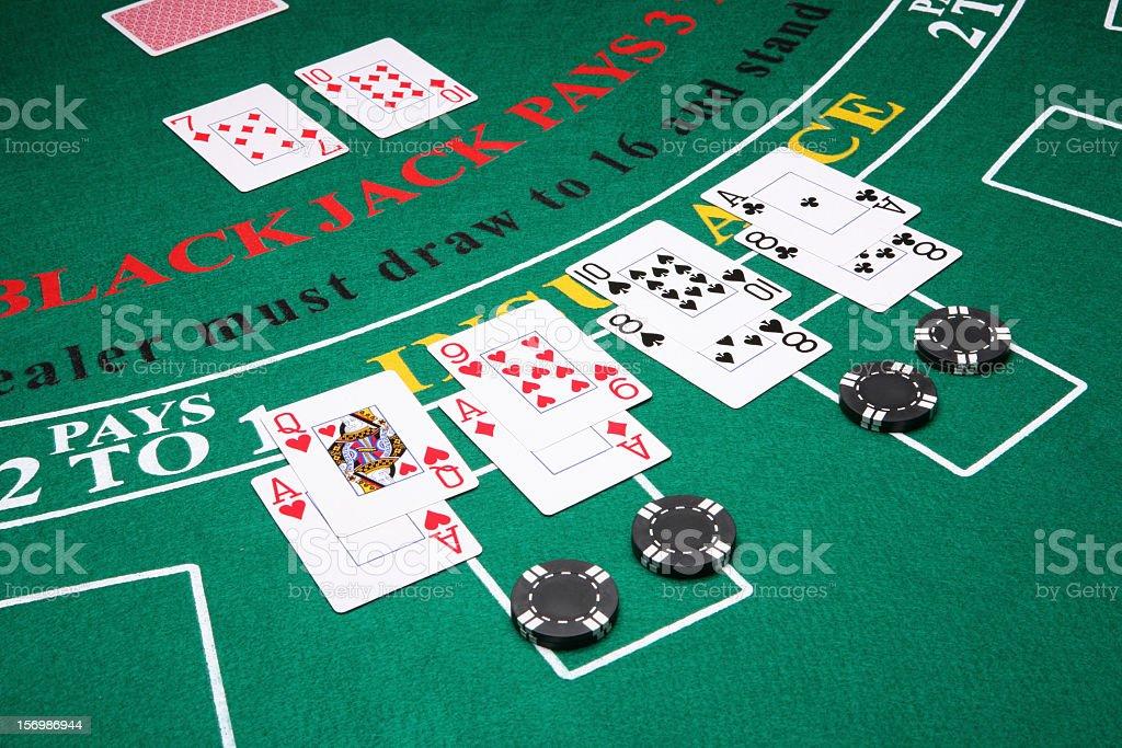 Splitting in Blackjack stock photo