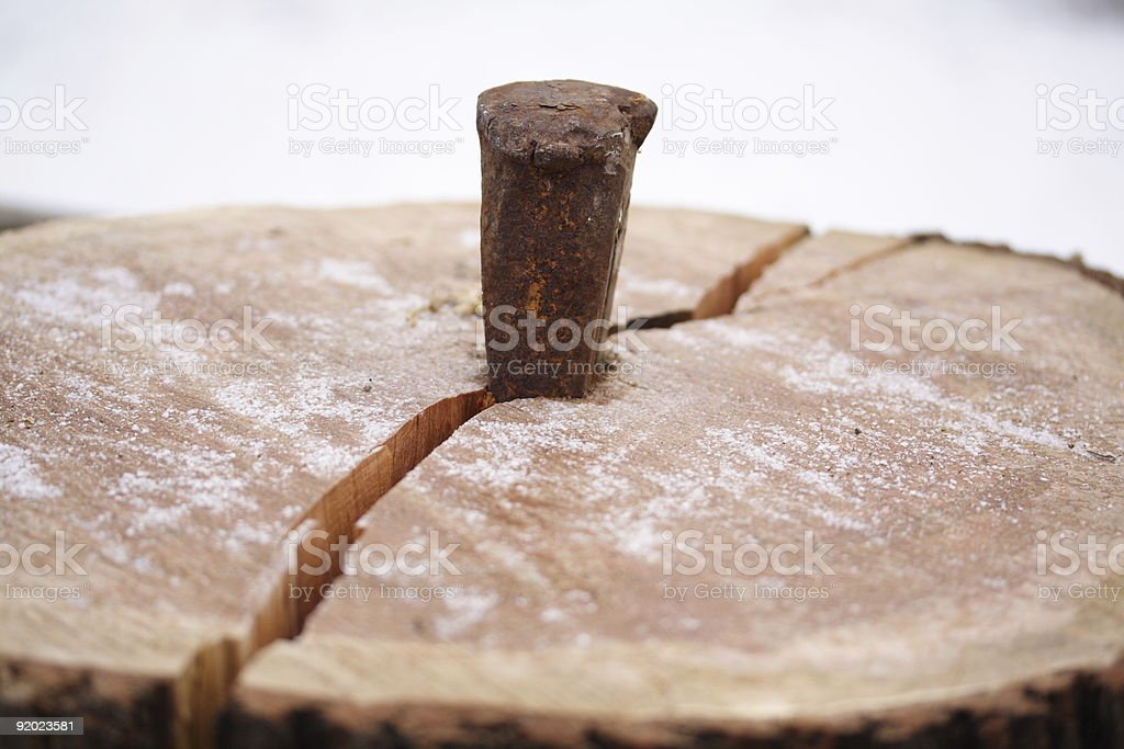 Splitting Wood stock photo