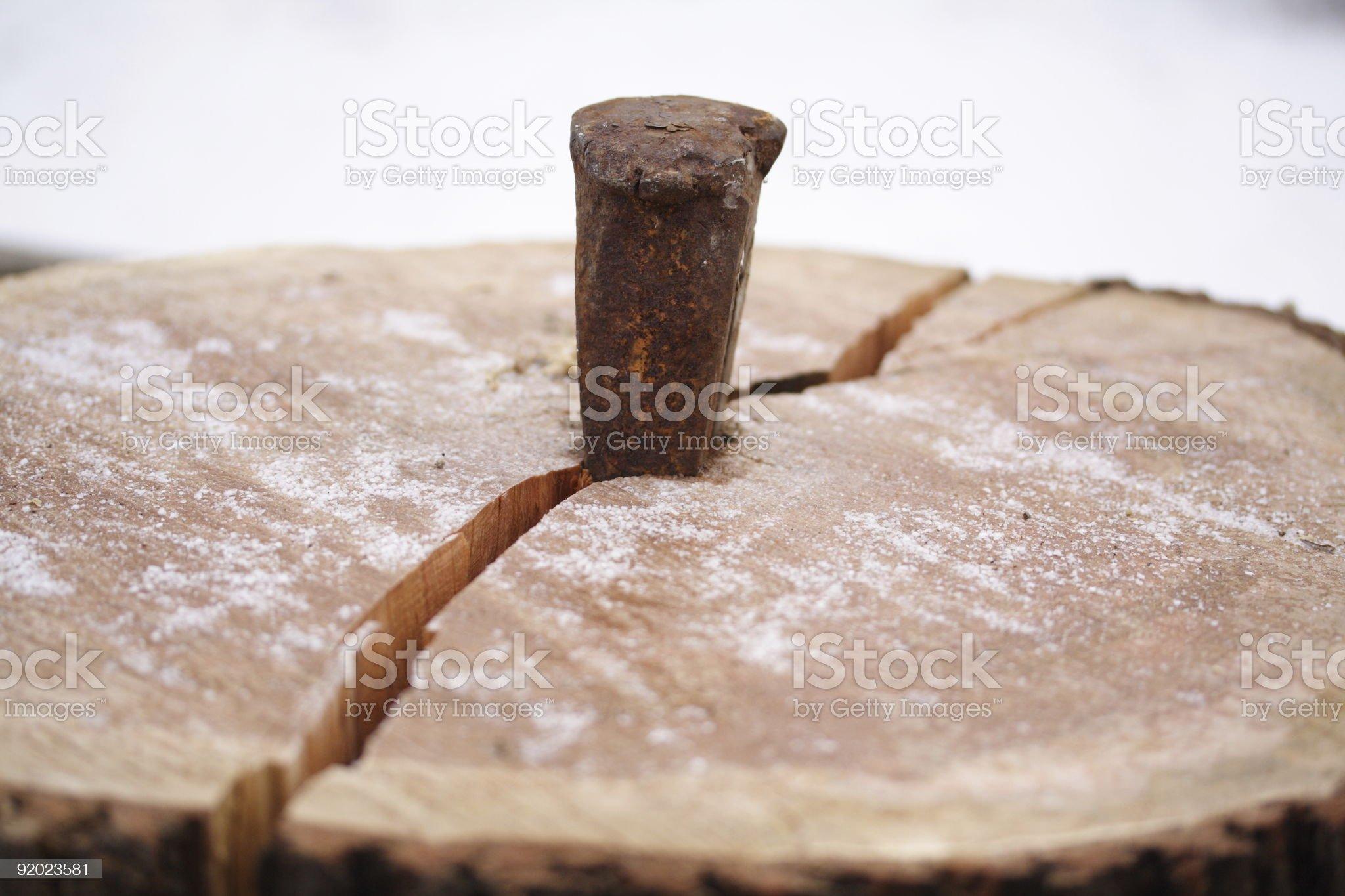 Splitting Wood royalty-free stock photo