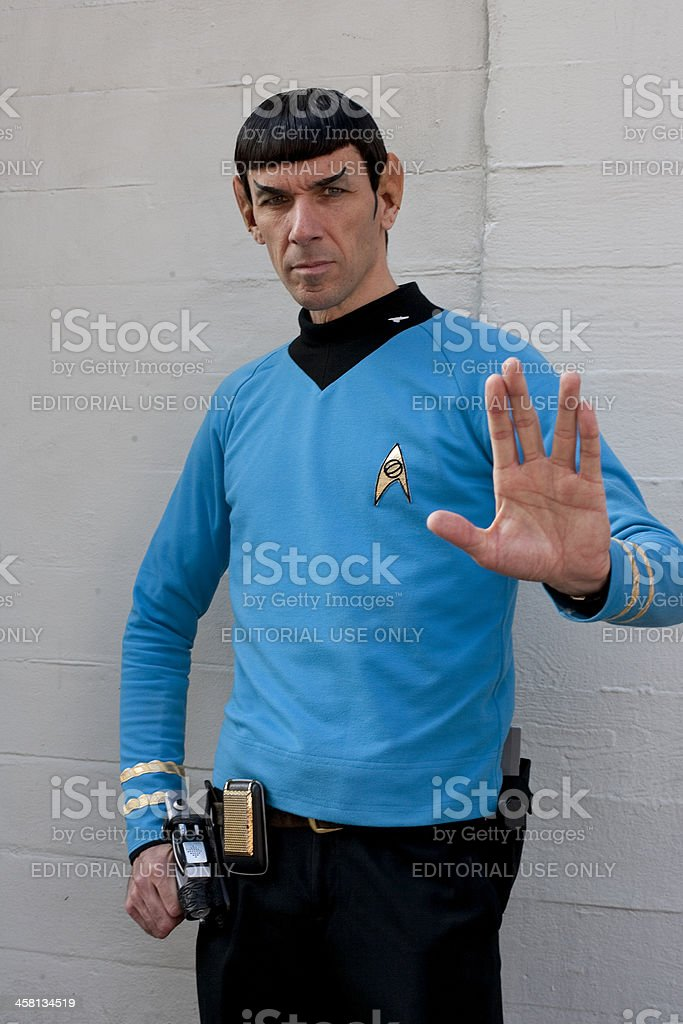 Spock Impersonator stock photo