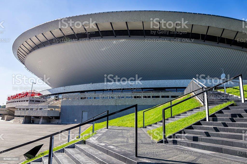 Spodek sports and entertainment building in Katowice, Poland stock photo
