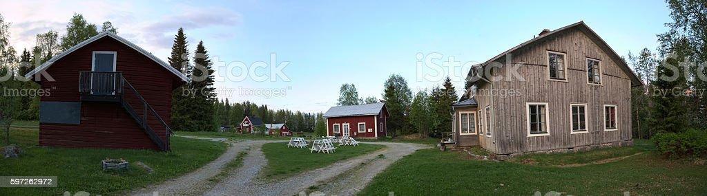 Spoekpraestgaard, a haunted clergy house, in Borgvattnet in Sweden stock photo