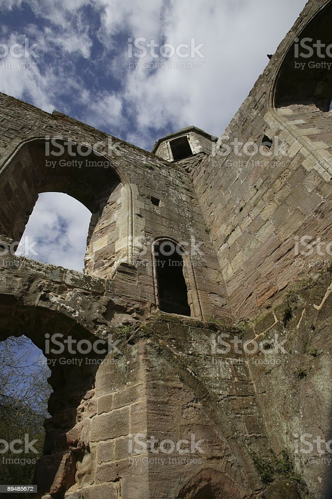 Spofforth Castle, West Yorkshire, England stock photo