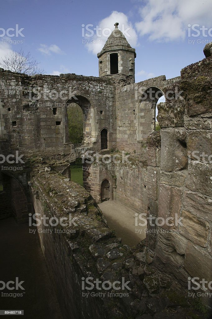spofforth castle, yorkshire,england stock photo