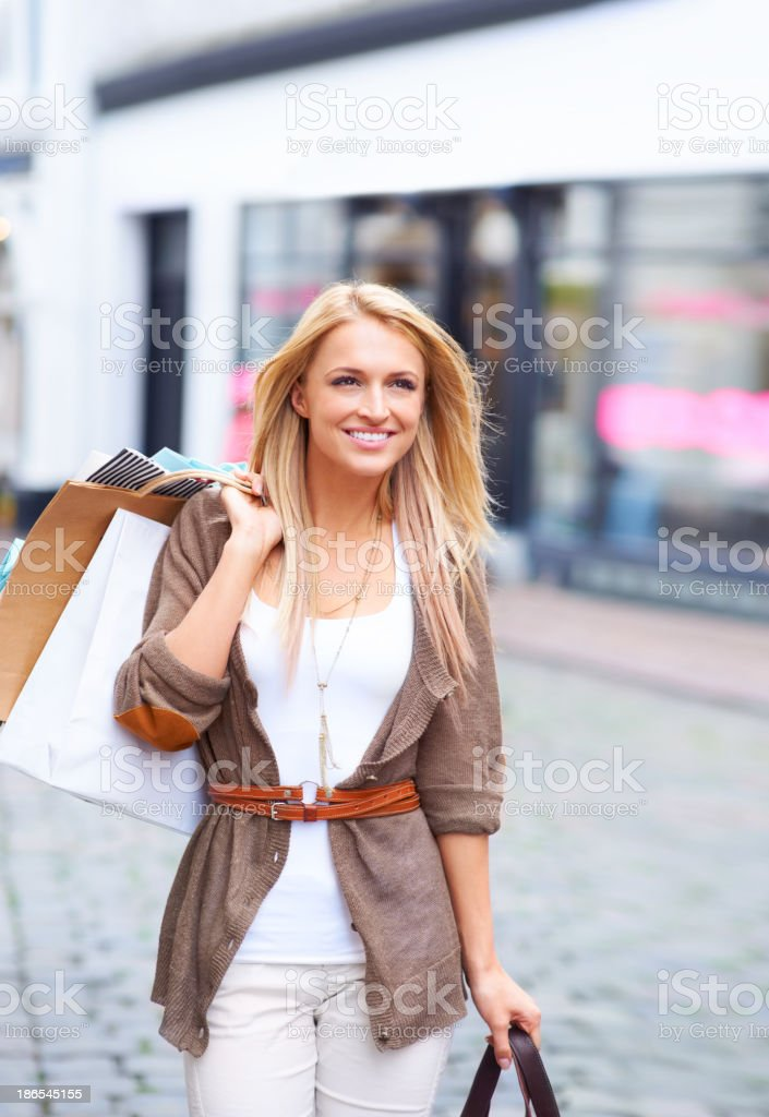 Spoiling herself to a great day stock photo