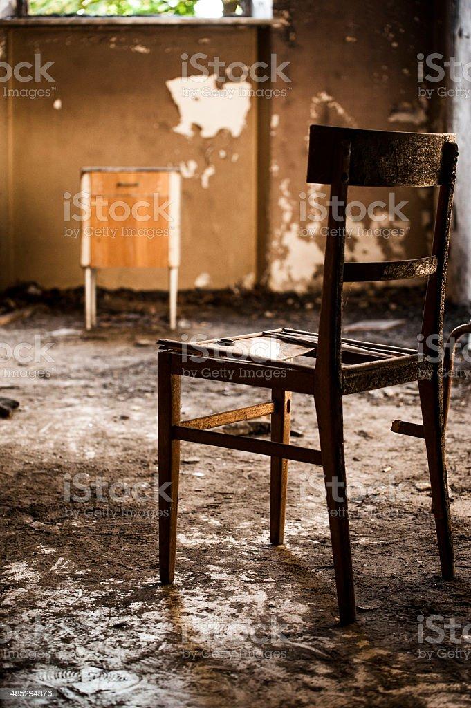 Spoilt chair stock photo