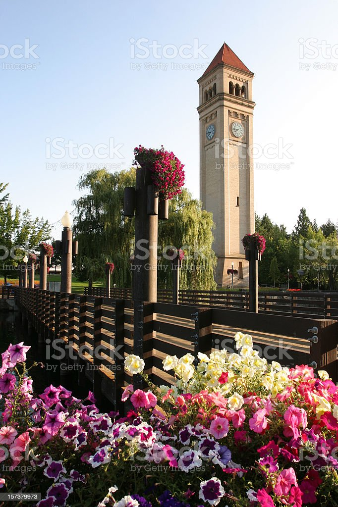 Spokane, WA - Riverfront Park & Clock Tower stock photo