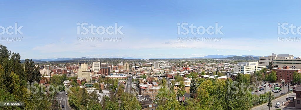 Spokane, Washington Panorama stock photo