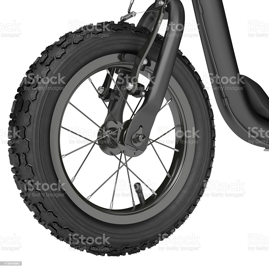 Spoked wheel stock photo
