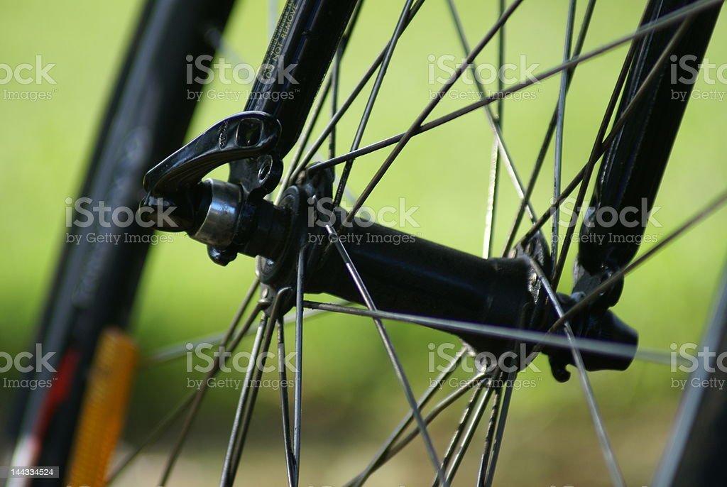 Spokes of bicycle wheel royalty-free stock photo
