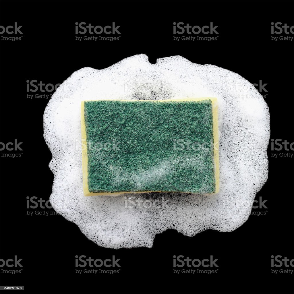 sponge and foam for washing and cleaning stock photo