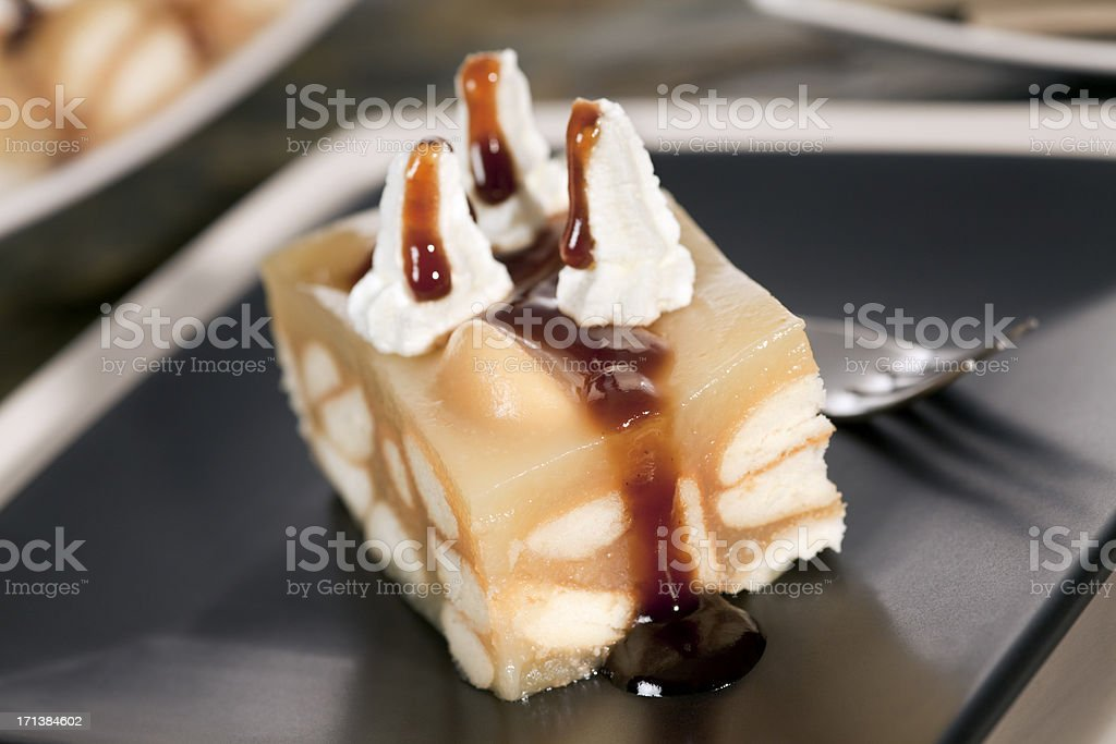 Sponge apple cake royalty-free stock photo