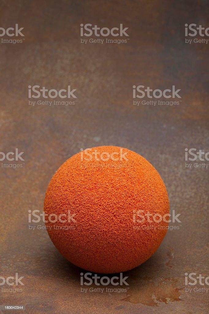 Sponge Ball: dimensional depth stock photo