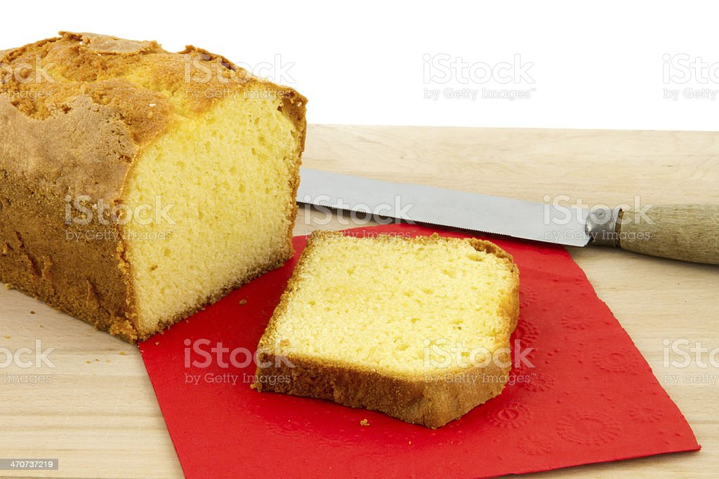 sponge cake on chopping board royalty-free stock photo
