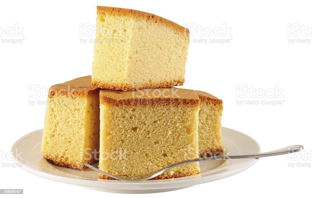 Sponge cake. stock photo