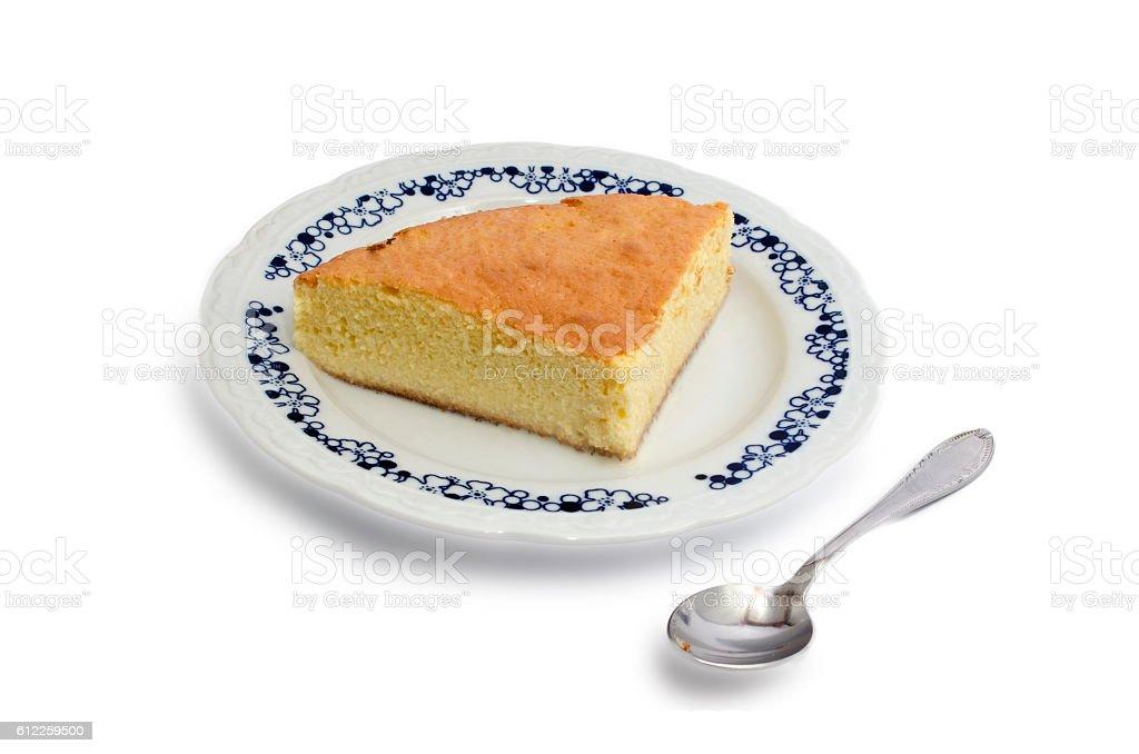 Sponge cake with milk royalty-free stock photo