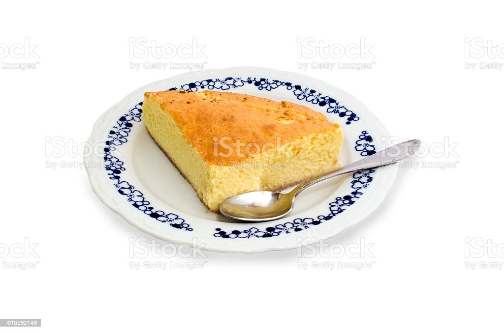 Sponge cake with milk royalty-free stock photo