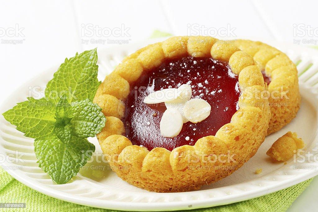 sponge cakes with jam royalty-free stock photo