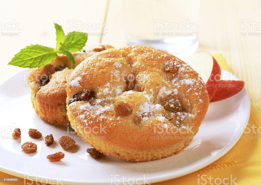 Бисквитный торты и Изюм Стоковые фото Стоковая фотография