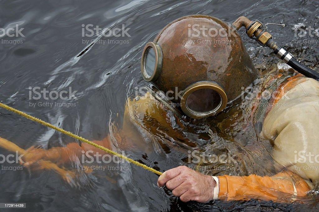 Sponge Diver stock photo