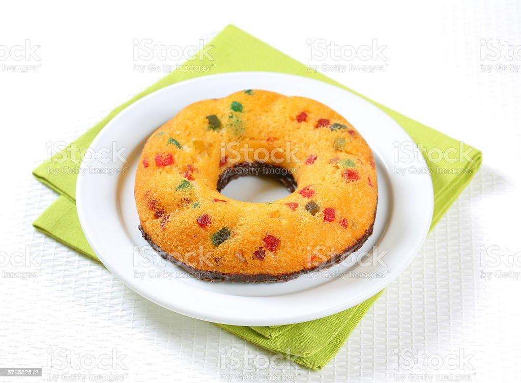 Sponge doughnut stock photo