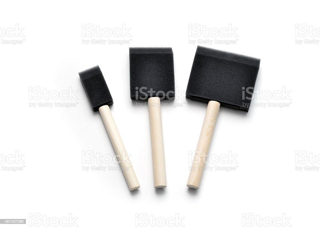 Sponge Paint Brushes stock photo