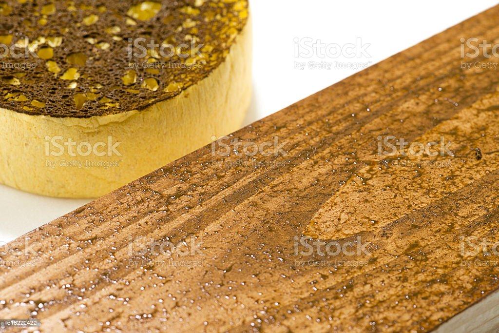 Sponge Paint Close-up stock photo