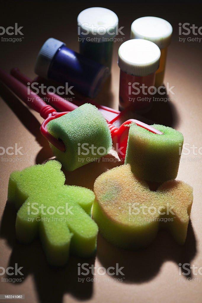 sponge paint set stock photo