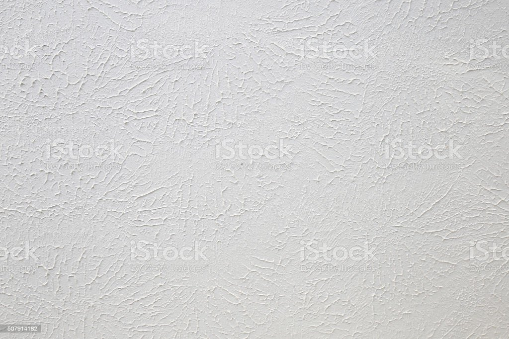 Sponge painted,abstract textured white ceiling background stock photo