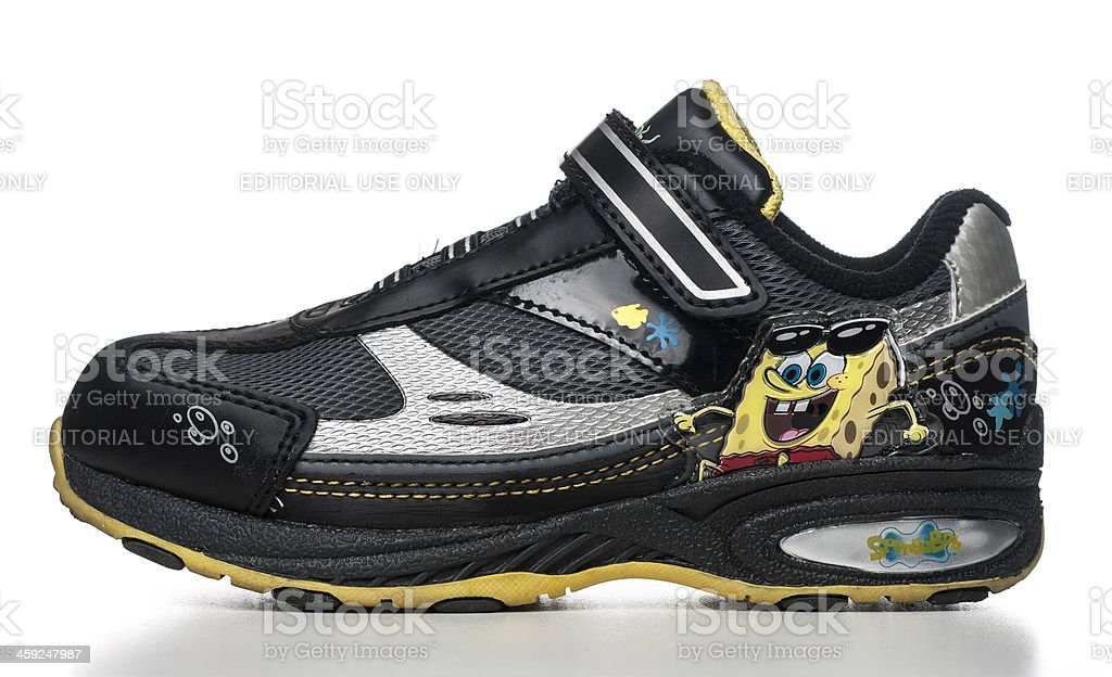 SpongeBob Light-Up Runner kid shoe royalty-free stock photo
