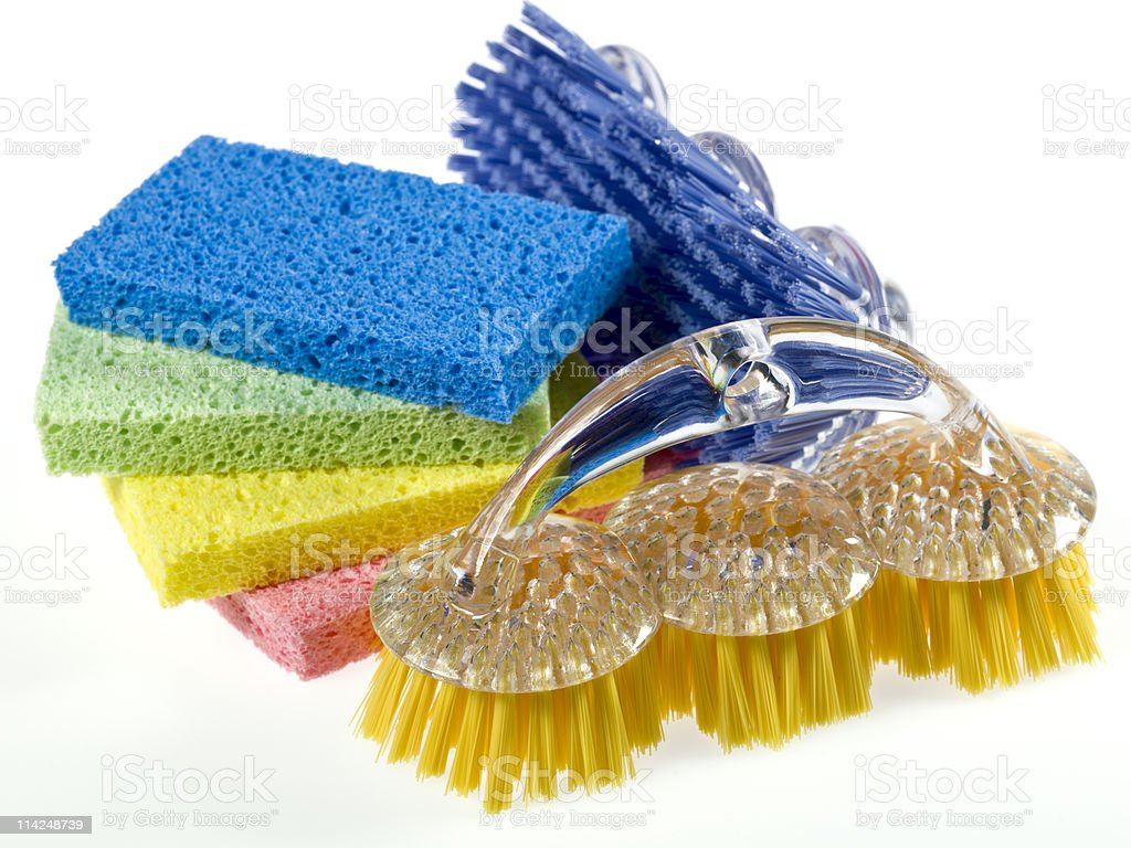 Sponges and scrubbers royalty-free stock photo