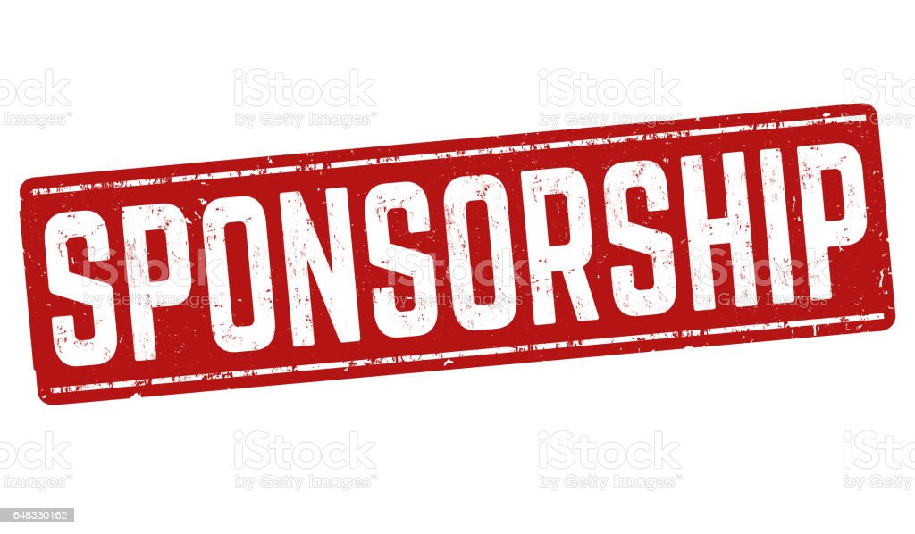 Sponsorship sign or stamp stock photo