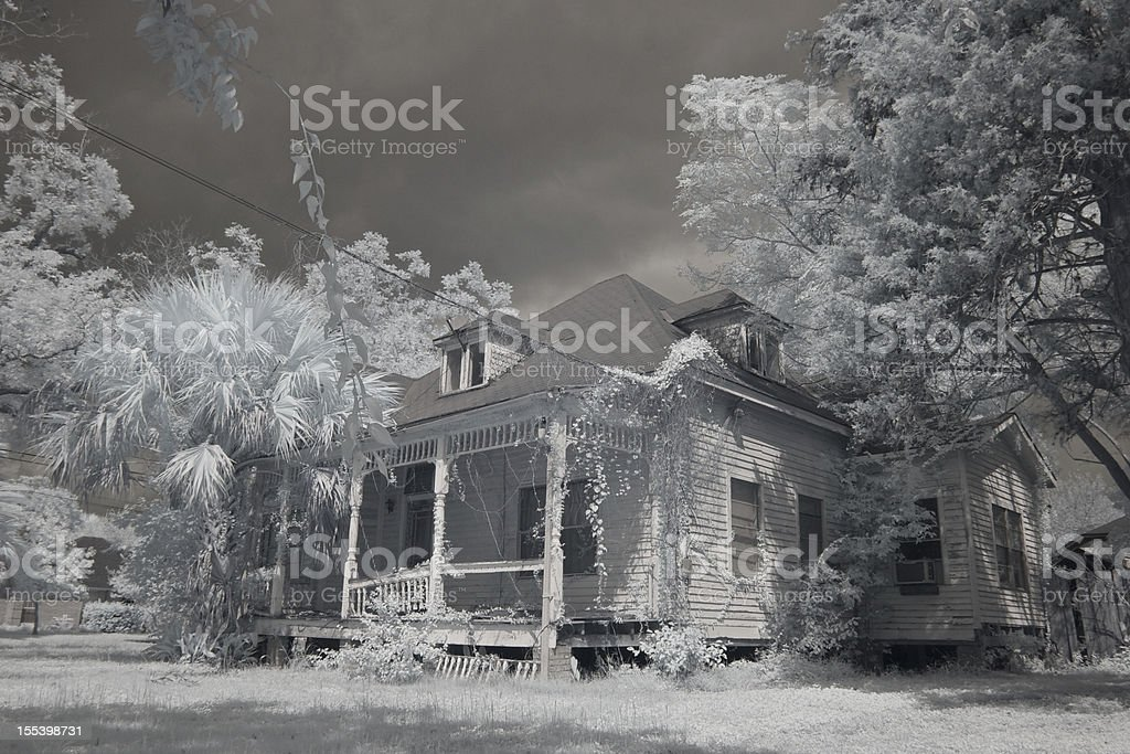 Spooky abandoned house royalty-free stock photo
