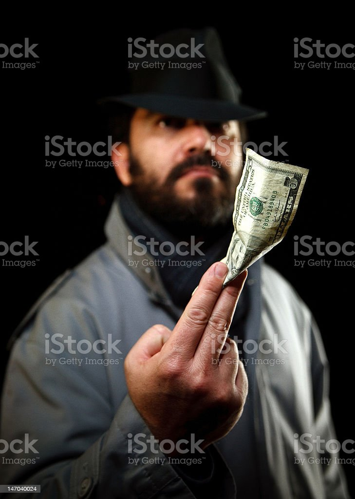 spooky bearded man stock photo