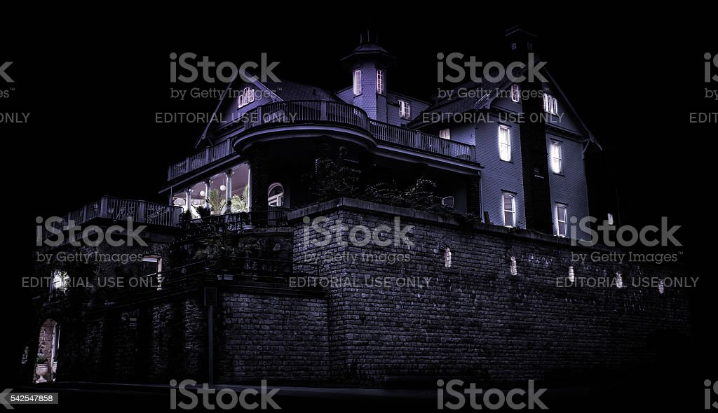Spooky Castle at Night stock photo