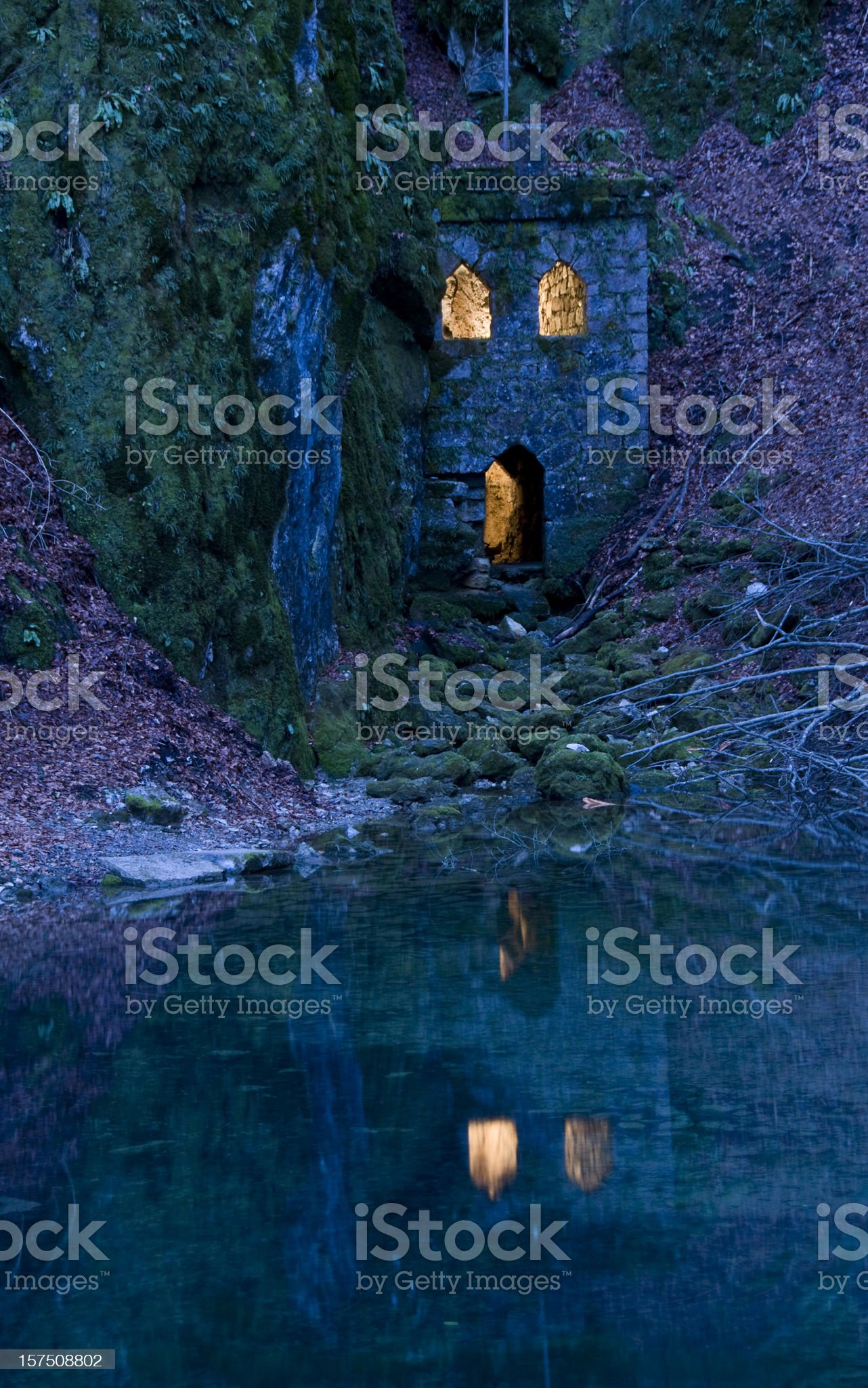 Spooky castle royalty-free stock photo