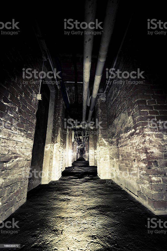 Spooky corridor stock photo