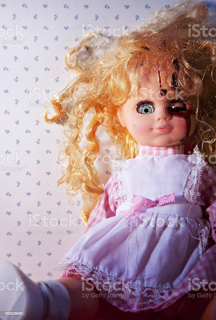Spooky doll stock photo