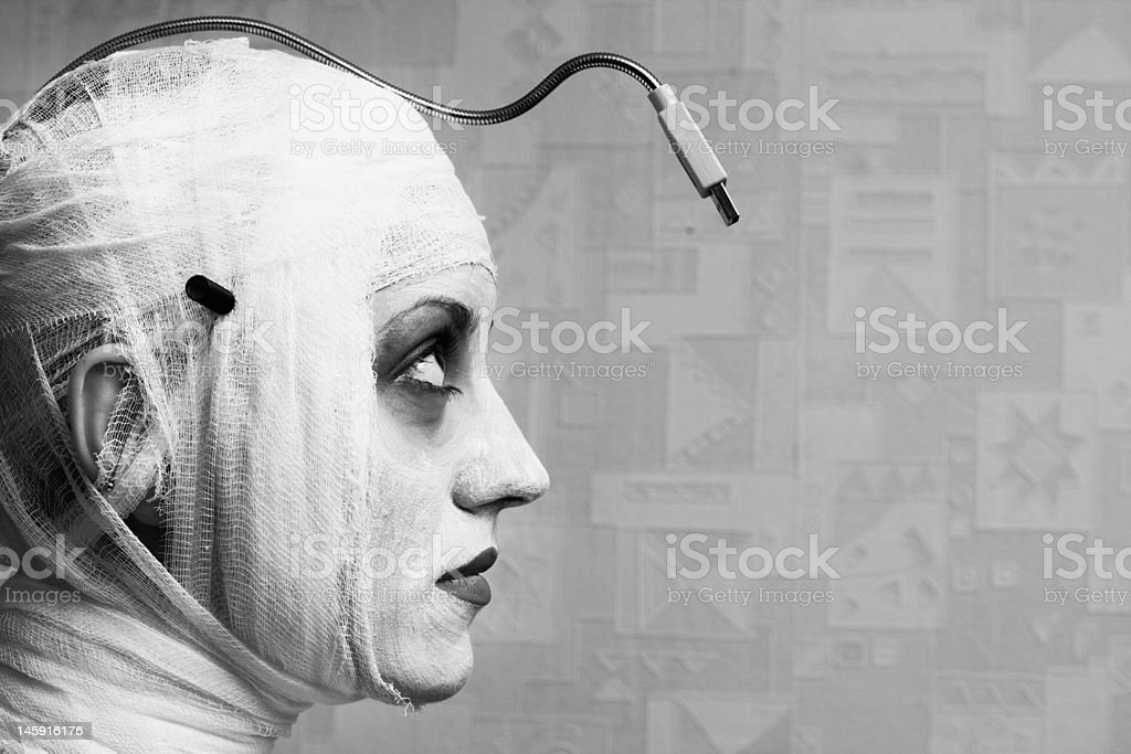 spooky female mime royalty-free stock photo