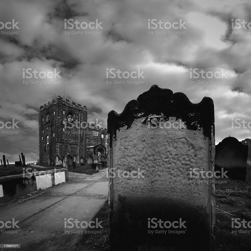 Spooky Grave royalty-free stock photo