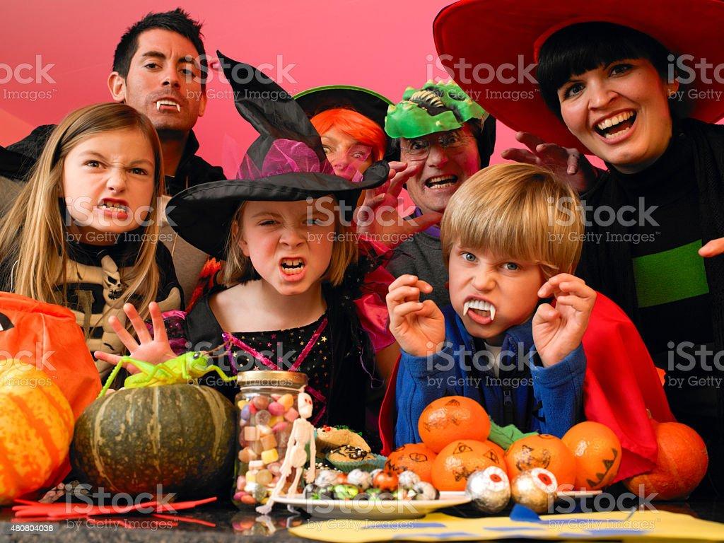Spooky halloween party stock photo